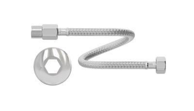"""Engate Flexível para Água Quente e Fria Inox 1/2"""" 30Cm 100MCA - 90°C MXFM"""