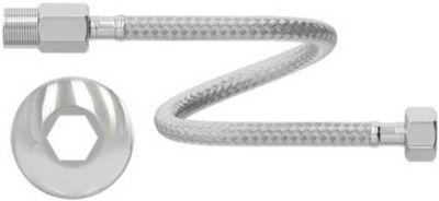 """Engate Flexível Água Quente e Fria Inox 1/2"""" 40cm 100MCA - 90°C Mxfm"""