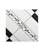 Piso Triunfo Napoles 45,5x45,5cm Caixa 2,50m² Branco e Preto
