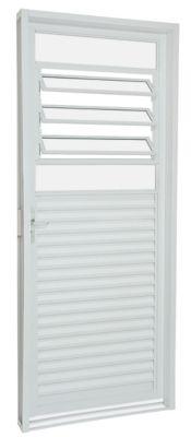 Porta Basculante Aço Branco Direita 217x87x6,5cm Pratika