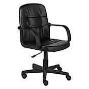 Cadeira Executiva com Encosto Baixo Preto 60x102x57cm