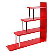 Estante 3 Portas 108x120x25cm Vermelho e Branco