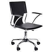 Cadeira Giratória com Braço Marrom
