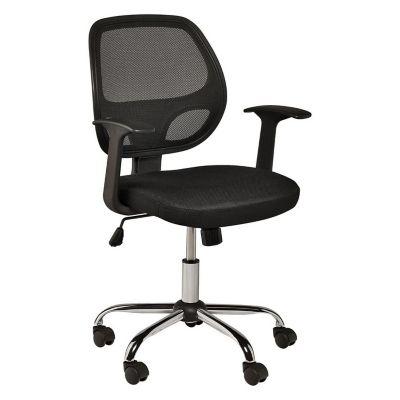 Cadeira Executiva Verona de Escritório 98x55cm Giratória Preto