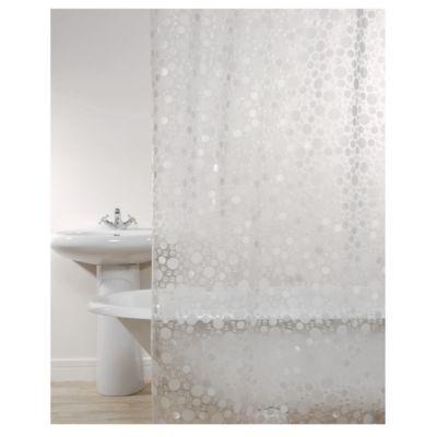 Cortina de Banho Gota Branco 178X180cm