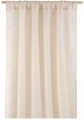 Cortina Véu 1 Folha Natural, Bege, 140X230cm