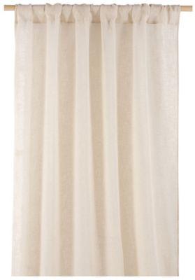 Cortina Véu 1 Folha Natural Bege, 140X250cm