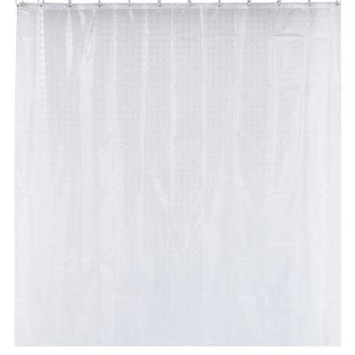 Cortina Banho Quadrados 180x180cm Branco