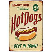 Quadro Met Hot Dog Verde 20x30cm