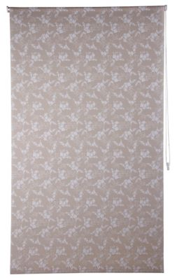 Cortina Rolo Flor Bege, 120x250cm