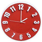 Relógio Número, Vermelho, 30cm