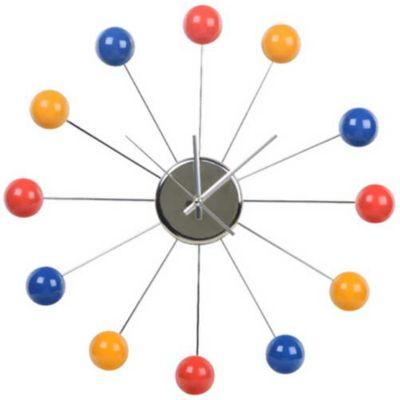 Relógio Ponto, Colorido Prata, 30cm