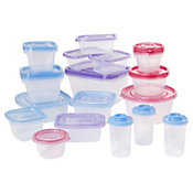 Set 24 Potes Tampa Colorida Cba, Transparente