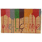 Capacho Welcome Colorido 45X75cm