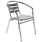 Cadeira Slat Alumínio Prata