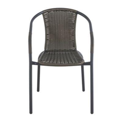 Cadeira Ratan Preto e Marrom