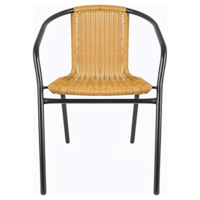 Cadeira Rattan Preto e Natural