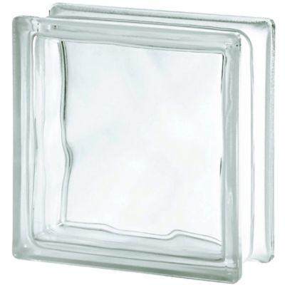 Bloco Vidro Ondulado Transparente 19x19x8cm