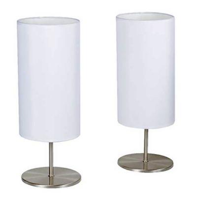 Kit 2 Luminárias de Mesa 2 Lâmpadas, Branco, Bivolt