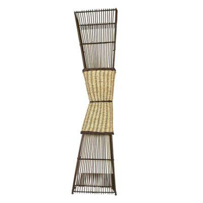 Luminária de Piso Bambu 2 Lâmpada E27 Hcn