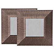 Conjunto 2 Espelhos 23x23 cm Dourado