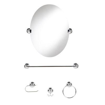 Kit Acessórios 5 Pcs Com Espelho Cromado