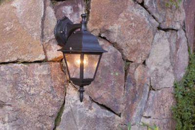 Arandela 1 Lâmpada, Preto, Bivolt