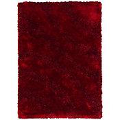 Tapete Shaggy Ondas 120X170cm Vermelho