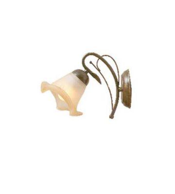 Arandela 1 Lâmpada Vidro, Ambar, Bivolt