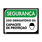 Sinal PVC Capacete de Proteção