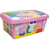 Caixa Organizadora Peppa 4,2L 293x181x118cm Rosa
