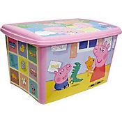 Caixa Organizadora Peppa, Rosa, 45L, 573x384x303cm