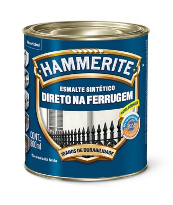 Esmalte Hammerite, Cinza, 0,8L
