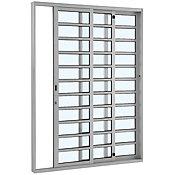 Porta de Correr Horizontal de Alumínio 3 Folhas Esquerdo 216x200cm Branco Alumifort