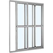 Porta de Correr de Alumínio 3 Folhas Divisão Central Esquerdo 216x160cm Branco Alumifort