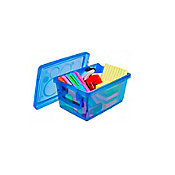 Mini Organizador com Trava Azul 1.5L 14x9x20