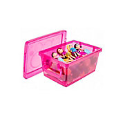 Mini Organizador com Trava Pink 1.5L 14x9x20