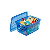 Mini Organizador com Trava Azul 650ml 11x7x15