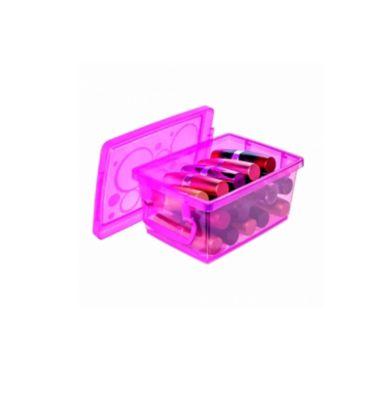 Mini Organizador com Trava Pink 650ml 11x7x15