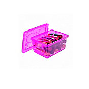 Mini Organizador com Trava Pink 650ml 11x7x15