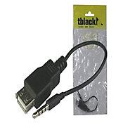 Cabo Adaptador P2 4AC x USB-A 15cm Preto