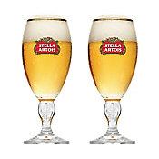 Conjunto Taça Cerveja 2 Peças 250ml Stella Artois, Transparente