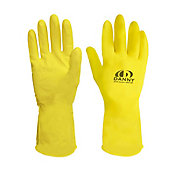 Luva Latex Multi Uso Tamanho G, Amarelo