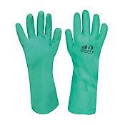 Luva Nitrílica com Forro Tamanho M Verde para Limpeza
