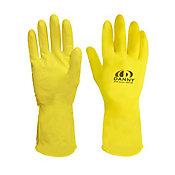 Luva Latex Multi Uso Tamanho G 10 Pares, Amarelo