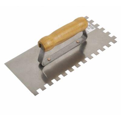 Desempenadeira Aço com dentes 10x10cm Prata