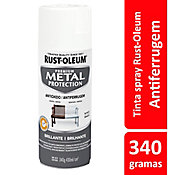 Tinta Spray Brilhante Metal Protection 340ml Branco