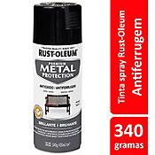 Tinta Spray Brilhante Metal Protection 340ml Preto