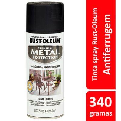Tinta Spray Fosco Metal Protection 340ml Preto