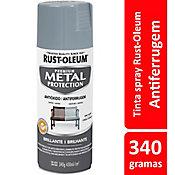 Tinta Spray Brilhante Metal Protection 340ml Cinza